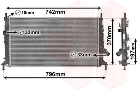 VAN WEZEL  18002370 Radiador, refrigeración del motor