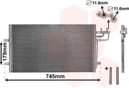 Klimakondensator 18005367 VAN WEZEL 18005367 in Original Qualität