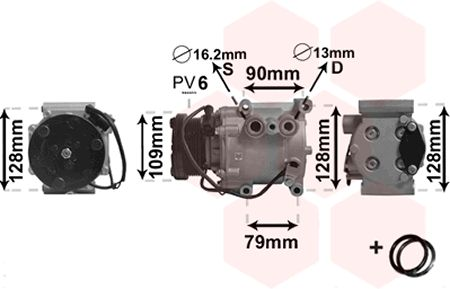 VAN WEZEL Kompressori, ilmastointilaite