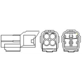 Lambdasonde Kabellänge: 635mm mit OEM-Nummer 18213-62J11