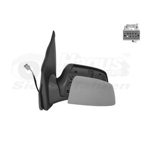VAN WEZEL Side view mirror Right, Complete Mirror, Convex, Electronically foldable, for electric mirror adjustment, Heatable, Primed