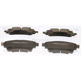 Brake Pad Set, disc brake Width: 129,1mm, Height: 59mm, Thickness: 17,5mm with OEM Number 8W0 698 451N