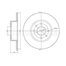 LANCIA Delta III (844) 1.4 Bifuel Bremsscheiben METELLI 23-0193C (1.4 Bifuel Benzin/Autogas (LPG) 2014 198 A4.000)