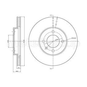 Bremsscheibe Bremsscheibendicke: 20,0mm, Lochanzahl: 4, Ø: 256,0mm mit OEM-Nummer 6N0 615 301 D