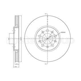 Bremsscheibe Bremsscheibendicke: 25,0mm, Lochanzahl: 5, Ø: 288,0mm mit OEM-Nummer 6R0615301D