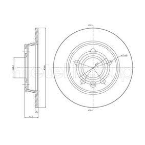 Bremsscheibe Bremsscheibendicke: 10,0mm, Lochanzahl: 5, Ø: 268,0mm mit OEM-Nummer 1 137 985