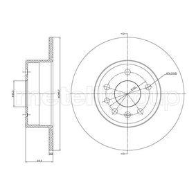 Bremsscheibe Bremsscheibendicke: 10,0mm, Lochanzahl: 5, Ø: 286,0mm mit OEM-Nummer 48 39 338