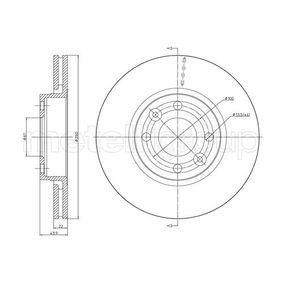 Bremsscheibe Bremsscheibendicke: 22,0mm, Lochanzahl: 4, Ø: 260,0mm mit OEM-Nummer 40206AX600