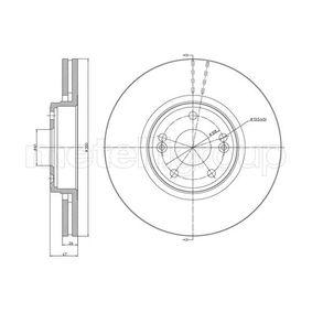 Bremsscheibe Bremsscheibendicke: 26,0mm, Lochanzahl: 5, Ø: 300,0mm mit OEM-Nummer 77 01 206 614