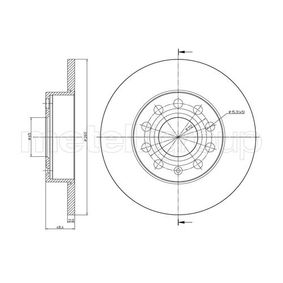 Bremsscheibe Bremsscheibendicke: 12,0mm, Lochanzahl: 5, Ø: 260,0mm mit OEM-Nummer 1K0 615 601 AC