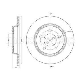 Brake Disc 23-0750C 3 (BL) 2.5 MY 2012