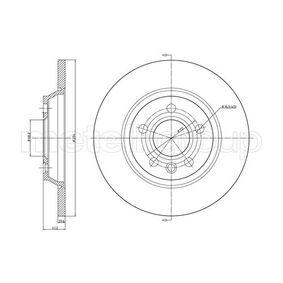 Bremsscheibe Bremsscheibendicke: 13,5mm, Lochanzahl: 5, Ø: 294,0mm mit OEM-Nummer 7D0615601A
