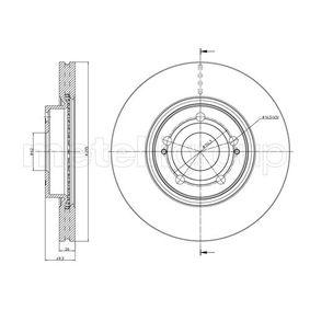 Bremsscheibe Bremsscheibendicke: 26,0mm, Lochanzahl: 5, Ø: 295,0mm mit OEM-Nummer 43512-05080