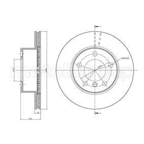 Bremsscheibe Bremsscheibendicke: 22,0mm, Lochanzahl: 5, Ø: 284,0mm mit OEM-Nummer 34 11 6 792 215