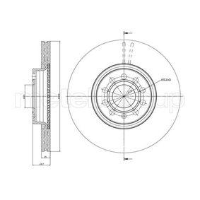 Bremsscheibe Bremsscheibendicke: 25,0mm, Lochanzahl: 5, Ø: 312,0mm mit OEM-Nummer 5C0 615 301 B