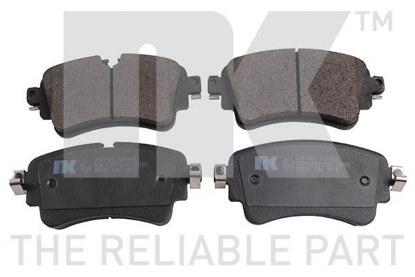 NK  2247123 Brake Pad Set, disc brake Width 1: 129mm, Width 2 [mm]: 129mm, Height 1: 59,1mm, Height 2: 59,1mm, Thickness 1: 16,6mm, Thickness 2: 16,6mm