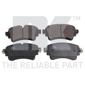 Kit de plaquettes de frein, frein à disque Largeur 2: 129,00mm, Hauteur 2: 59,10mm, Epaisseur 2: 16,60mm avec OEM numéro 8W0 698 451 N