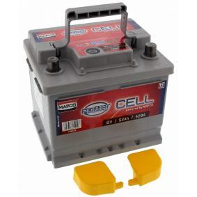 MAPCO Starterbatterie B13 , 52 Ah , 12 V , LB1 , 540 A , Bleiakkumulator