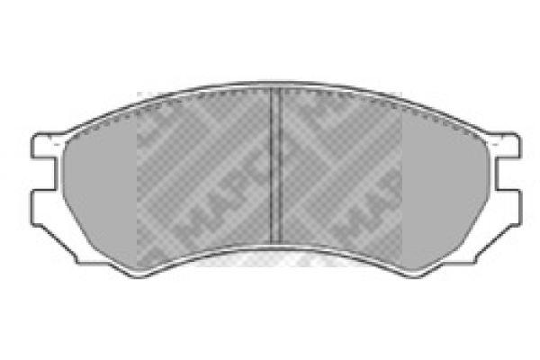 MAPCO  15859C Bremsscheibe Bremsscheibendicke: 9,8mm, Lochanzahl: 5, Ø: 264mm