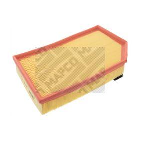 Luftfilter Länge: 327mm, Breite: 216mm, Höhe: 62mm mit OEM-Nummer 8638600