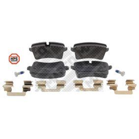 Kit de plaquettes de frein, frein à disque Largeur 2: 116mm, Hauteur 1: 59mm, Hauteur 2: 60mm, Épaisseur: 17mm avec OEM numéro 4H0 698 451 M