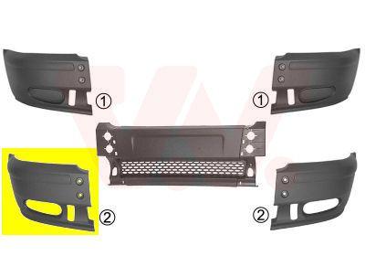Frontschürze 1898566 VAN WEZEL 1898566 in Original Qualität