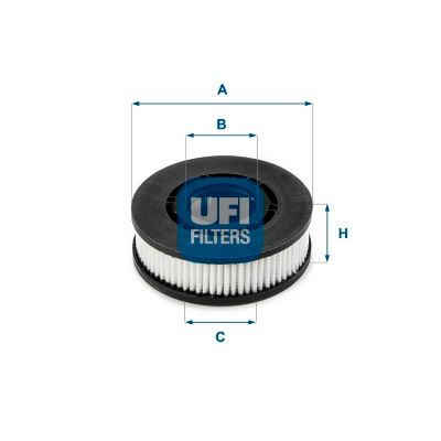 UFI  27.689.00 Filtro, ventilación bloque motor