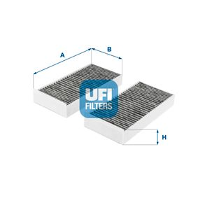 UFI  54.279.00 Filter, Innenraumluft Länge: 231,0mm, Breite: 113,0mm, Höhe: 32,0mm