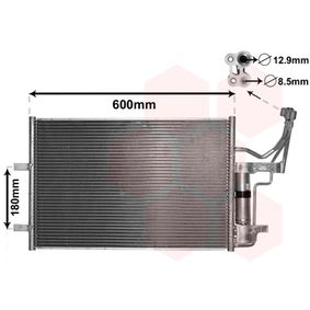 Condensador MAZDA 3 (BK) 1.4 de Año 10.2003 84 CV: Condensador, aire acondicionado (27005184) para de VAN WEZEL