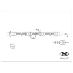 Bremsschlauch Länge: 655mm mit OEM-Nummer 90947 W2 042