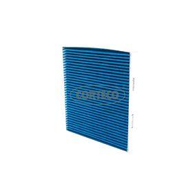 Filter, Innenraumluft Länge: 252mm, Breite: 235mm, Höhe: 30,5mm mit OEM-Nummer 5Q0 819 669