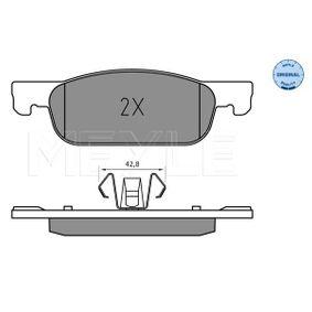 Bremsbelagsatz, Scheibenbremse Breite: 155mm, Höhe: 49mm, Dicke/Stärke: 16,9mm mit OEM-Nummer 4106 055 36R