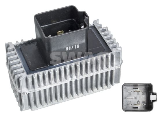 SWAG  40 10 2704 Relay, glow plug system Voltage: 12V, Number of connectors: 7