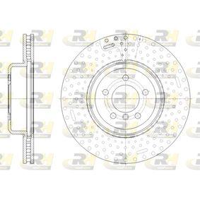 Brake Disc Brake Disc Thickness: 30mm, Num. of holes: 5, Ø: 370mm, Ø: 370mm with OEM Number 34 106 797 606