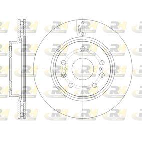 Bremsscheibe Bremsscheibendicke: 22mm, Lochanzahl: 5, Ø: 280mm mit OEM-Nummer 55311-61M00