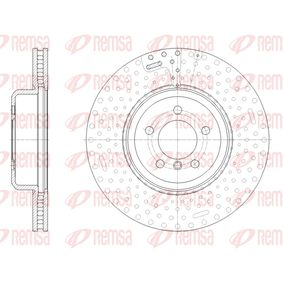 Brake Disc Brake Disc Thickness: 30mm, Num. of holes: 5, Ø: 370mm, Ø: 370mm with OEM Number 34 10 6 797 606