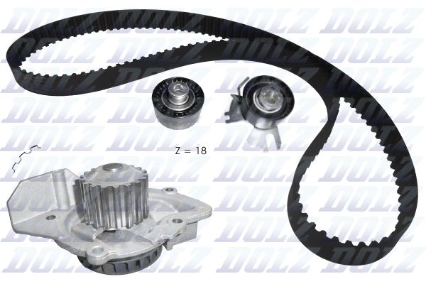 DOLZ  KD106 Water pump and timing belt kit Width: 29,0mm