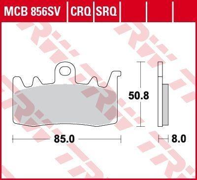 Bremsbeläge MCB856CRQ TRW MCB856CRQ in Original Qualität