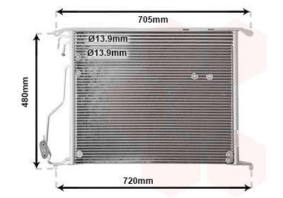 VAN WEZEL  30005280 Kondensator, Klimaanlage
