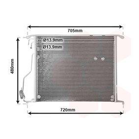 Kondensator, Klimaanlage Netzmaße: 580x480x16 mit OEM-Nummer 220 500 00 54