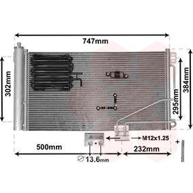 Kondensator, Klimaanlage mit OEM-Nummer A20 350 0135 4