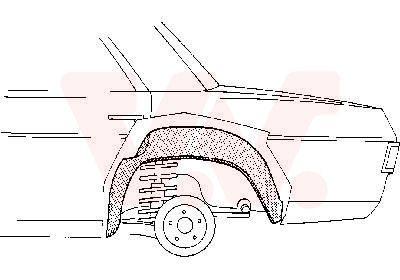 VAN WEZEL  3003.48 Reparaturblech