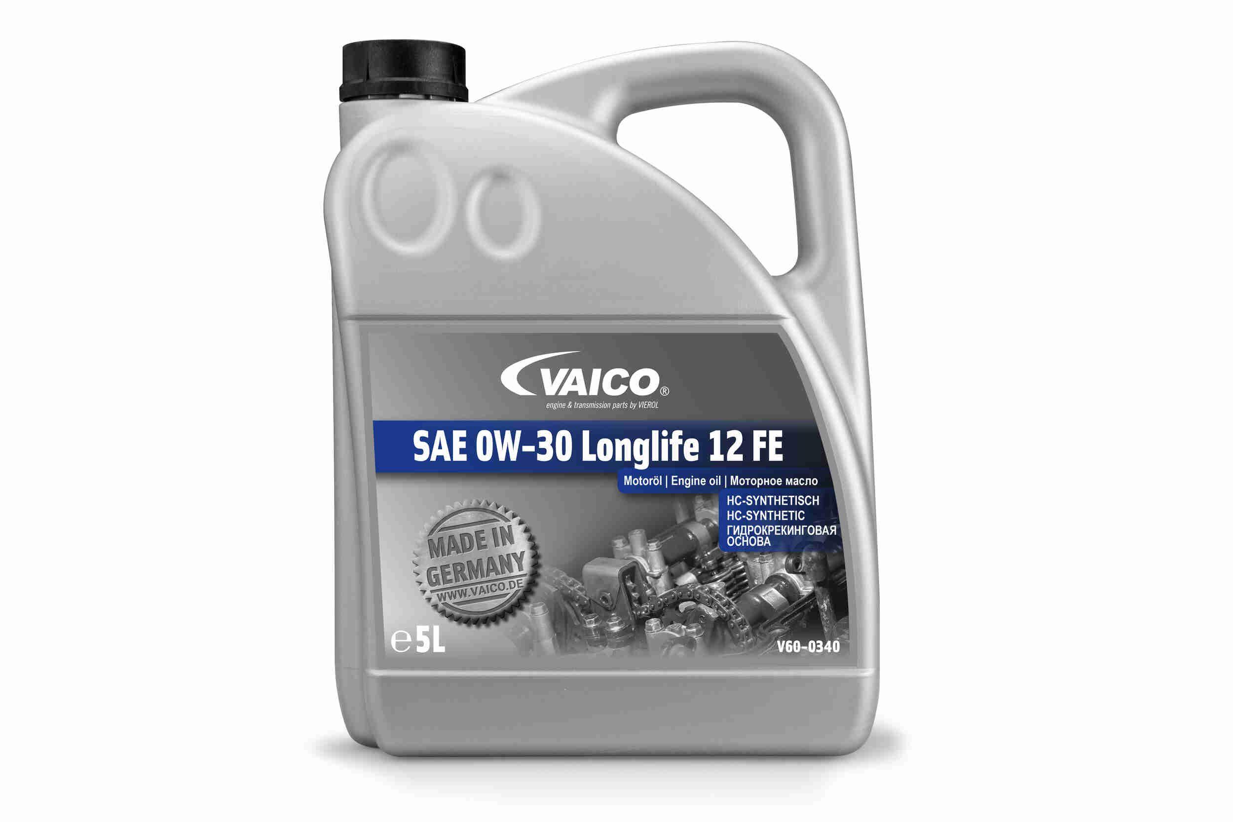 Motor Oil V60-0340 VAICO BMWLonglife12FE original quality
