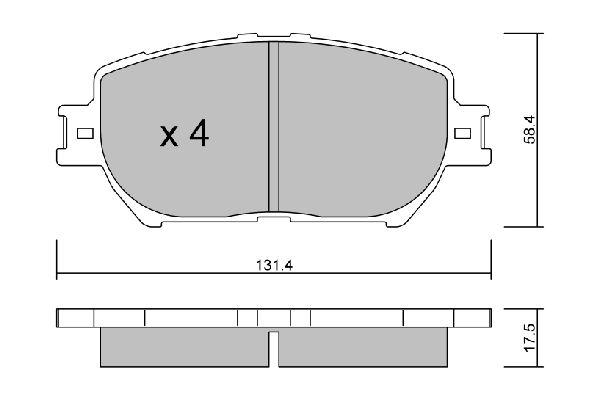 Bremsbeläge BPTO-1023 AISIN BPTO-1023 in Original Qualität