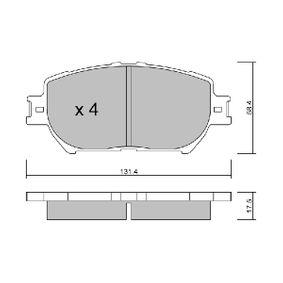 Bremsbelagsatz, Scheibenbremse Breite: 131,4mm, Höhe: 58,4mm, Dicke/Stärke: 17,5mm mit OEM-Nummer 04465 33240
