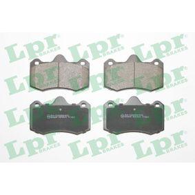 LPR  05P2009 Bremsbelagsatz, Scheibenbremse Breite: 130,1mm, Höhe: 81,6mm, Dicke/Stärke: 16,7mm