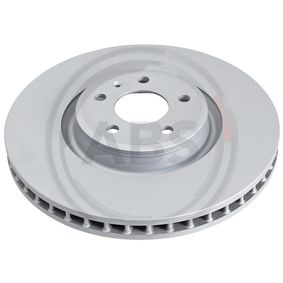 Bremsscheibe Bremsscheibendicke: 34mm, Felge: 5-loch, Ø: 349mm mit OEM-Nummer 4M0 615 301AB