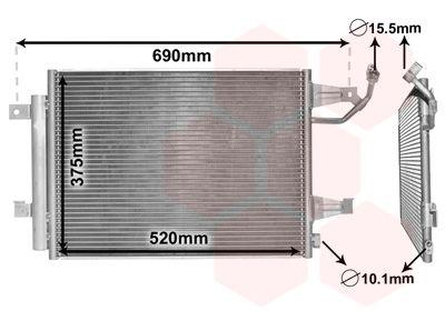 VAN WEZEL  32005177 Kondensator, Klimaanlage