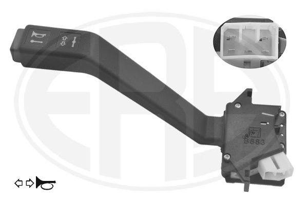 ERA  440648 Steering Column Switch Number of connectors: 5, with horn, with indicator function