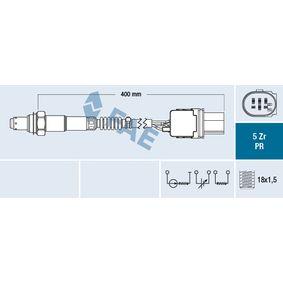 Lambdasonde Kabellänge: 400mm mit OEM-Nummer 22693 5X20A